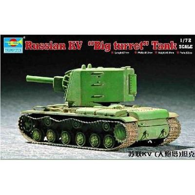 Maquette Char lourd soviétique KV grande tourelle - Trumpeter-TR07236