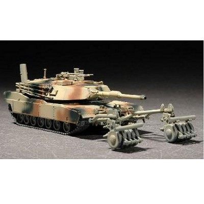 Maquette Char lourd US M1A1 Abrams mine roller 1991 - Trumpeter-TR07278