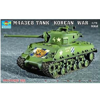 Maquette Char moyen US M4A3E8 Sherman (T-80 Tracks) - Trumpeter-TR07229