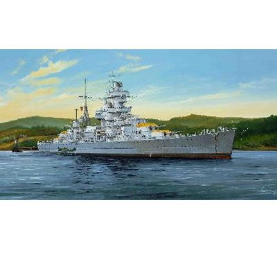 Maquette bateau: Croiseur de bataille allemand Admiral Hipper 1941 - Trumpeter-TR05317