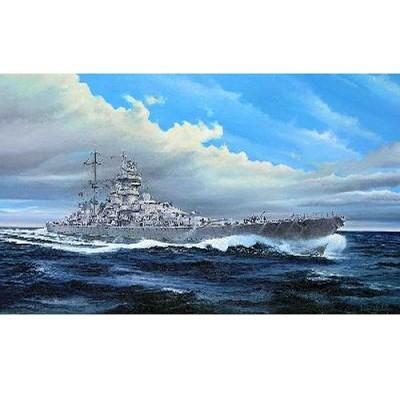 Maquette bateau: Croiseur de bataille allemand Prinz Eugen 1945 - Trumpeter-TR05313