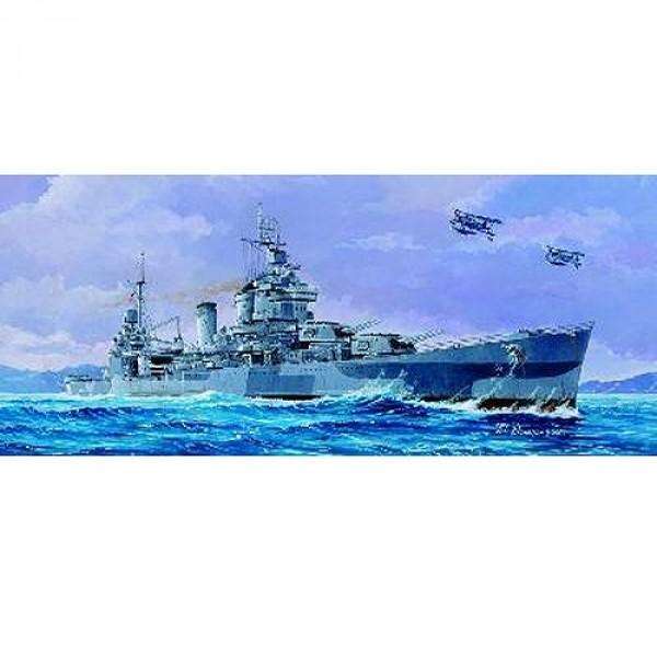 Maquette bateau: Croiseur lourd USS CA-38 San Francisco 1944 - Trumpeter-TR05747