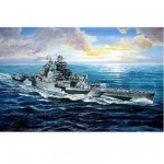 Maquette bateau: Cuirassé français Richelieu 1943