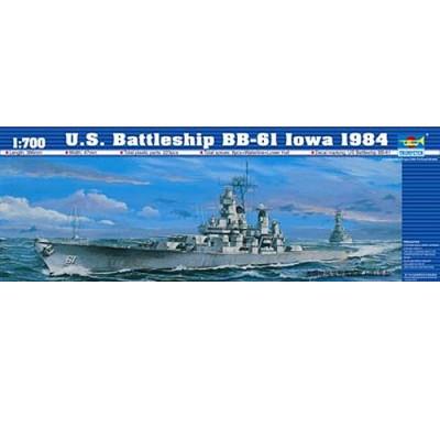 Maquette bateau: Cuirassé US BB-61 Iowa 1984 - Trumpeter-TR05701
