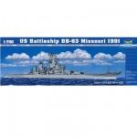 Maquette bateau: Cuirassé US BB-63 Missouri 1991