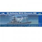 Maquette bateau: Cuirassé U.S. BB-64 Wisconsin 1991