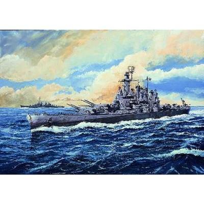 Maquette bateau: Cuirassé USS BB-56 Washington 1942 - Trumpeter-TR05735