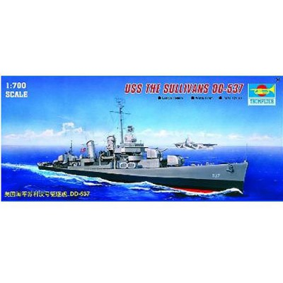 Maquette bateau : Destroyer USS DD-537 The Sullivans - Trumpeter-TR05731