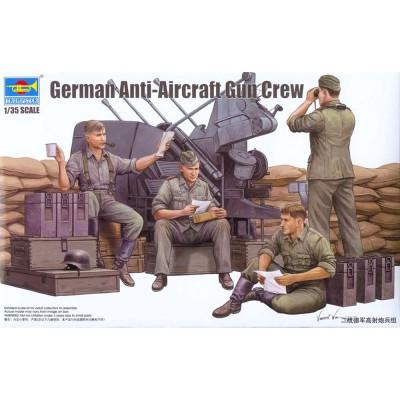 Figurines 2ème Guerre Mondiale : Artilleurs anti-aériens allemands - Trumpeter-TR00432