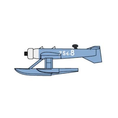 Maquette Avion : Set de 12 hydravions français MB-411 - Trumpeter-TR06264