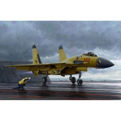 Maquette Avion Militaire : Chasseur intercepteur chinois J-15 avec pont d'envol - Trumpeter-TR01670