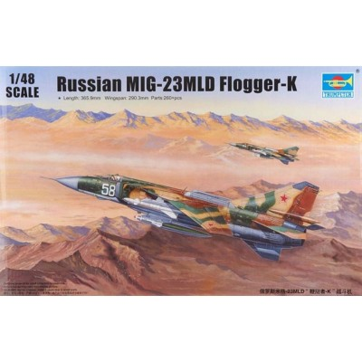 Maquette Avion Militaire : MIG-23MLD Flogger-K - Trumpeter-TR02856