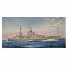 Maquette bateau : Croiseur lourd US CA-35 USS Indianapolis 1945