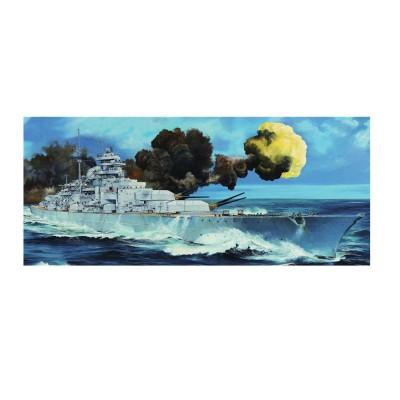 Maquette bateau : Cuirassé allemand Bismarck 1940 - Trumpeter-TR03702