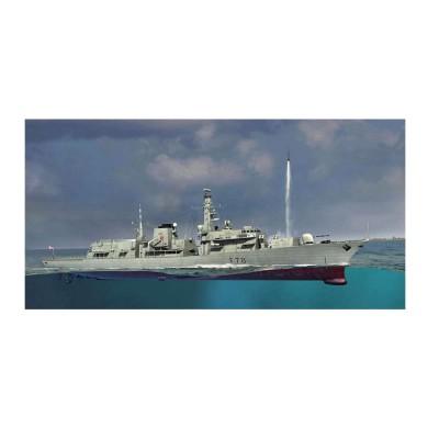 Maquette bateau : Frégate Britannique type 23 HMS Kent F78 - Trumpeter-TR04544