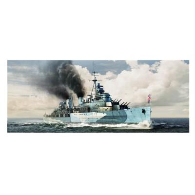 Maquette bateau : HMS Belfast C35 Croiseur léger britannique 1942 - Trumpeter-TR05334