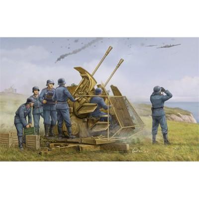 Maquette Canon anti aérien Allemand : FlaK 43 3.7cm ZWILLING - Trumpeter-TR02347