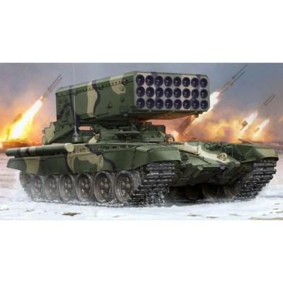 Maquette Char : Char Lance Roquettes Multiple (24 tubes) TOS-1 Soviétique - 1990 - Trumpeter-TR05582
