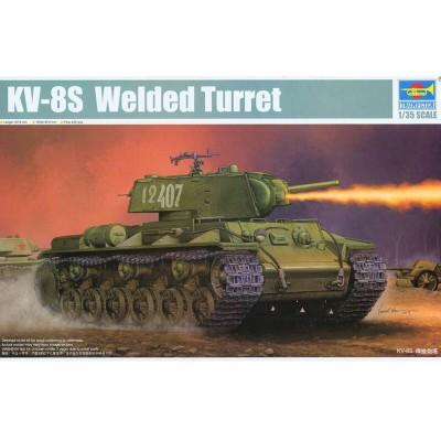 Maquette Char : KV-8S Char lourd soviétique 1944 - Trumpeter-TR01568