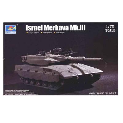 Maquette Char de combat principal Israélien Merkava Mk.III - Trumpeter-TR07103