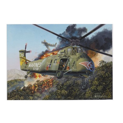 Maquette Hélicoptère : Sikorsky H-34 Hélicoptère US Marines 1968 - Trumpeter-TR64101