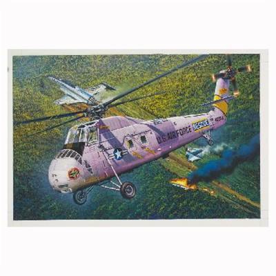 Maquette Hélicoptère SIKORSKY HH-34J Hélicoptère de sauvetage USAF 1970 - Trumpeter-TR64104