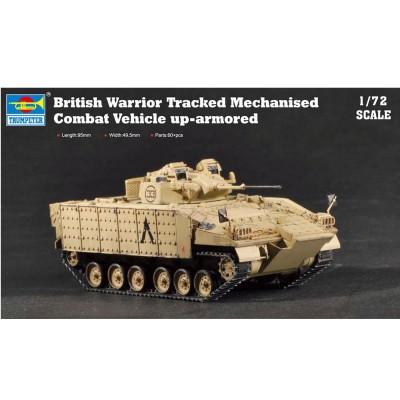 Maquette Véhicule de combat britannique Warrior avec blindage amélioré - Trumpeter-TR07102