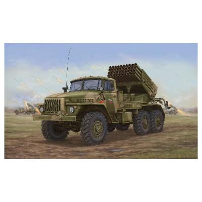 Maquette véhicule militaire : Camion lance roquettes soviétique BM-21 Hali MRL A20 - Trumpeter-TR01014
