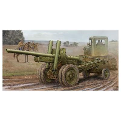 Maquette véhicule militaire : Canon Howitzer soviétique A-19 122 mm  Mod.1931/1937 - Trumpeter-TR02325