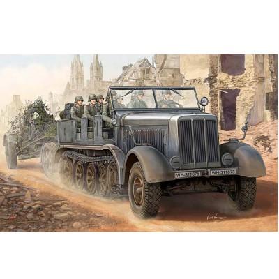Maquette Véhicule militaire : Sd.Kfz.8 Schwerer Zugkraftwagen 12t - Trumpeter-TR01583