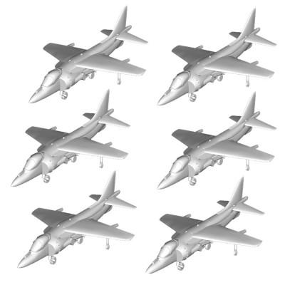 Maquettes avions : Set de 6 avions AV-8B Harrier - Trumpeter-TR06259