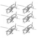 Maquettes hélicoptères : Set de 6 hélicoptères WZ-9C chinois