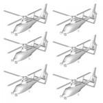 Maquettes hélicoptères : Set de 6 hélicoptères Z-9 chinois