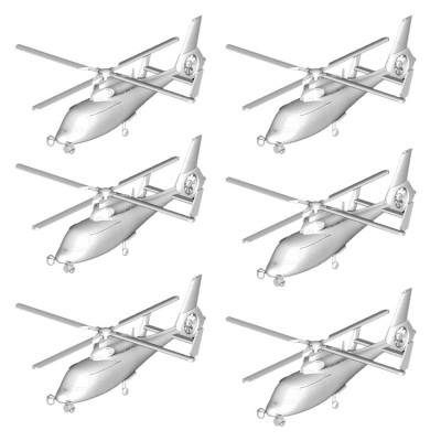 Maquettes hélicoptères : Set de 6 hélicoptères Z-9 chinois - Trumpeter-TR06260