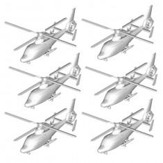 Maquettes hélicoptères : Set de 6 hélicoptères Z-9C chinois
