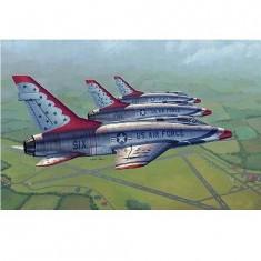 Maquette avion: North american F-100D: Sous livrée des Thunderbirds