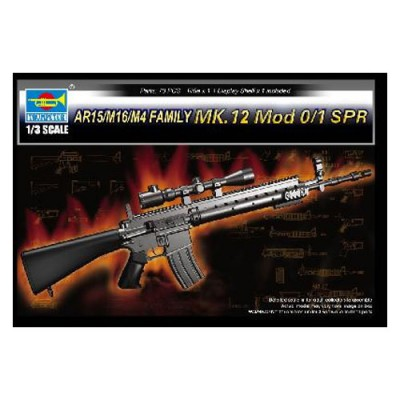 Réplique du Fusil d'assaut AR15/M16/M4 (famille des MK.12 Mod 0/1 SPR) - Trumpeter-TR01918