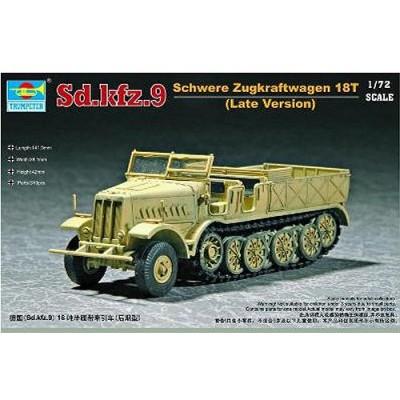 Maquette Half-track Sd.Kfz.9: Schwere Zugkraftwagen 18t Type F3 - Trumpeter-TR07252