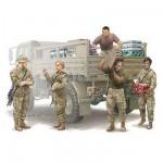 Figurines militaires: Equipe logistique Armée US moderne