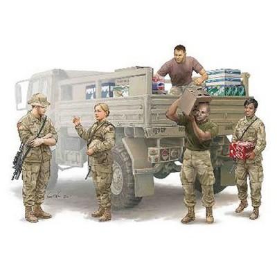 Figurines militaires: Equipe logistique Armée US moderne - Trumpeter-TR00429