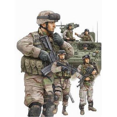 Figurines militaires : Infanterie US et équipage de blindé: Irak 2009 - Trumpeter-TR00424