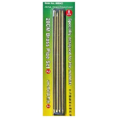 Set n°2 : Tubes en laiton 20cm, 4 types différents - Trumpeter-TR09943