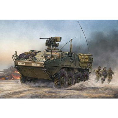 Maquette Char: US Light Armored Vehicle Stryker 2004 - Trumpeter-TR00375