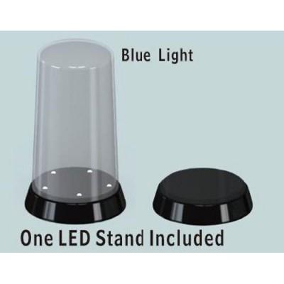 Vitrine haute et ronde (haut arrondi) : Base avec LED Lumineux - Trumpeter-TR09863