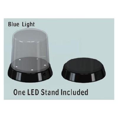 Vitrine ronde (haut arrondi) : Base avec LED Lumineux - Trumpeter-TR09861