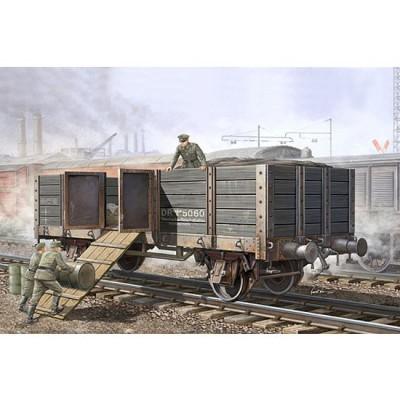 Maquette Wagon allemand à ridelles  - Trumpeter-TR01517
