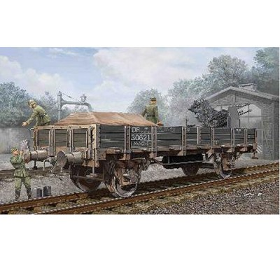 Maquette Wagon allemand ridelles basses - Trumpeter-TR01518