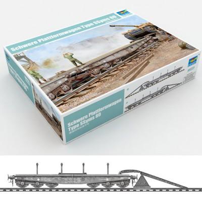 Maquette Wagon plateforme de transport de chars - Trumpeter-TR00221