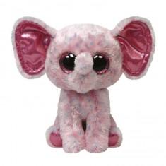Peluche TY Beanie Boo's Medium : Ellie l'éléphant rose