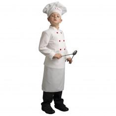 Déguisement Chef cuisinier (avec toque) : 3/4 ans